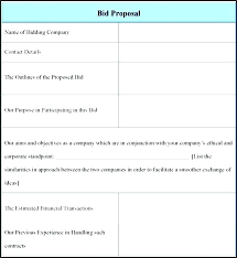 Contractor Bid Form Forms For Contractors Electrical Proposal ...