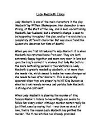 lady macbeths character in the play macbeth gcse english  page 1 zoom in
