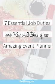 Duties Of An Event Planner Event Planning Job Description And Responsibilities