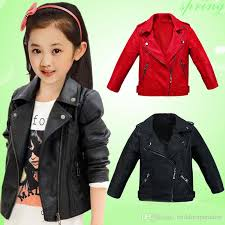 children pu leather jacket boys autumn leather jacket for girls coat girls spring jacket kids solid casual upper clothes kids lightweight jackets kids