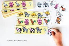 Pattern Activities For Preschoolers Custom Farm Math Activities With Free Printable Pattern Cards