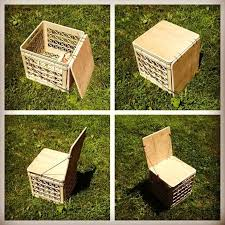 milk crate chair for camping or vinyl storage upgrade