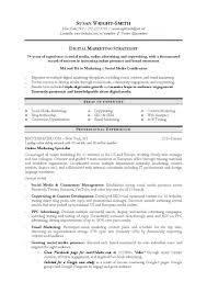 Social Media Specialist Resume Resumes Objective Samples Marketing