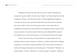 The short story  quot Borders quot  by Thomas King from the book Language     Marked by Teachers