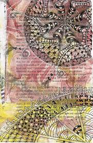 tangled gelatin plate printed book page by sadelle wiltshire czt