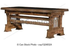 wooden table clipart. stock illustration - wooden ancient table isolated on the white background clipart
