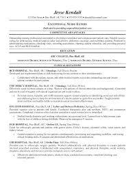 Nurse Extern Resume Sample