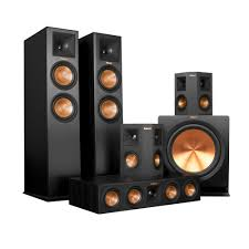 klipsch floor standing speakers. klipsch rp-280f floorstanding speakers w/ rp-450c center speaker rp-250s surround and r-115sw subwoofer \u2013 bundle floor standing k