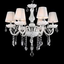 new modern white crystal chandeliers ceiling hanging light lamp for livingroom bedroom indoor lighting decoration 6light