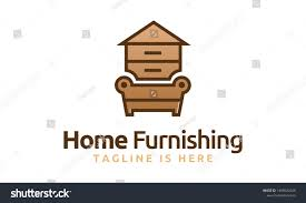 Home Furnishing Logo Design Abstract Furniture Logo Design Concept Symbol Stock Vector