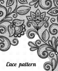 Floral Black Lace Pattern Vector Image Vector Illustration Of
