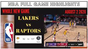 NBA Full Game Highlights L.A Lakers vs Toronto Raptors