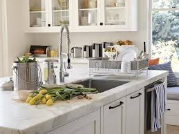 white marble countertops for cool kitchen
