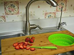 squish over the sink cutting board collapsible colander ideas