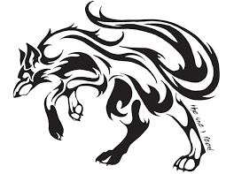 tribal wolf drawings in pencil. Exellent Tribal Werewolf Clipart Tribal Wolf 5 With Tribal Wolf Drawings In Pencil