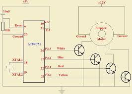 stepper motor control circuit using transistor