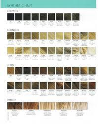 Colour Chart Estetica Wig Colours Wigs Canada