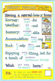 writing esl resources writing a postcard