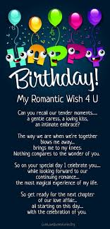 Happy Birthday Love Quotes Best 48 Happy Birthday Love Poems For Her Him With Images