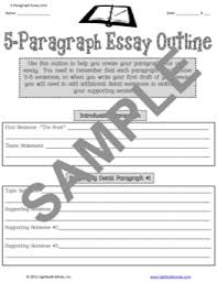 writing resources from lightbulb minds five paragraph essay view sample
