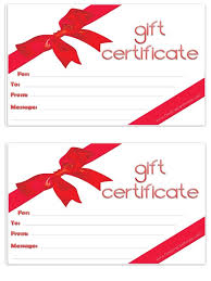 Gift Voucher Template Blank Gift Certificate Free Gift Certificate Template