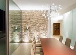 Stone Wall Decor And Glass Wall Interior Design