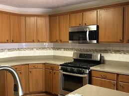 Kitchen Backsplash With Granite Countertops Custom Beautiful Subway Tile Installed For The Backsplash To Compliment The