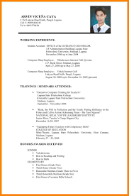 Example Of Good Resume In The Philippines Resume Ixiplay Free