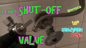 Leaking ShutOff Valve FIX YouTube - Bathroom leak repair