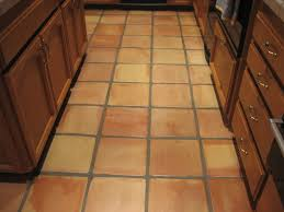 professional stripping cleaning sealing 12 inch saltillo tile kitchen flooring in san go poway area