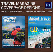 magazine cover psd psd ai vector eps format travel magazine cover page template