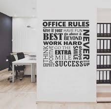 wall art for office. Office Rules Collage Quote | Wall Lettering Vinyl Decals Art For