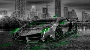 Green Wallpaper Neon Lamborghini