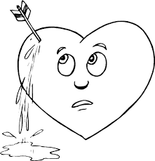 Small Picture Broken Heart Coloring Pages INSTANT DOWNLOAD Coloring Page