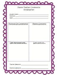 student conference form mrs bumgardner s kindergarten parent teacher conference form