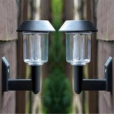 Solar Lights With On Off Switch On Off Switch Black Lamps Solar Power Wall Light Fence Led Outdoor Lighting