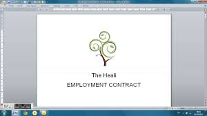 Employment Contract Template Youtube