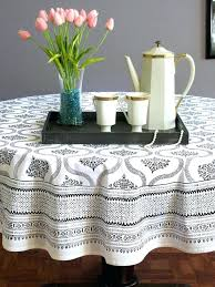round white table linens gray round tablecloth contemporary tablecloths for amazing black and white table cloth