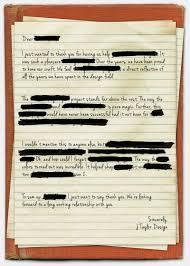 a love letter to secret clients