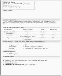 Resume Format For Pharmacy Freshers Resume Models For Freshers Bca