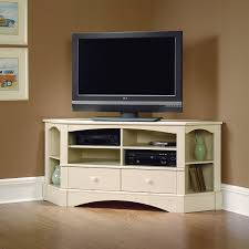 Amazon.com: Corner Entertainment Center - Antique White Finish ...