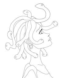 Small Picture Manga Drawing Medusa Coloring Page NetArt