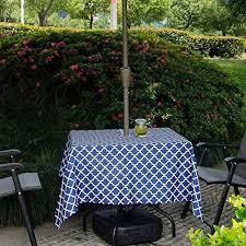 table covers blue stripe outdoor