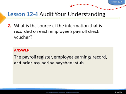 What Is A Payroll Register 2014 Cengage Learning All Rights Reserved Ppt Download