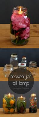 mason jar oil lamp apieceofrainbow