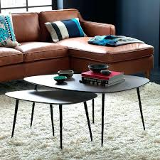 coffee table with nested ottomans view in gallery nesting tables from west elm