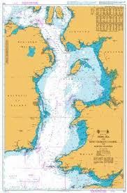 British Admiralty Nautical Chart 1121 Irish Sea With Saint
