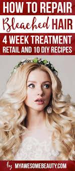How To Repair Bleached Hair Damaged