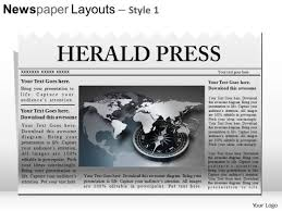 Powerpoint Newspaper Clipping Template Ppt Template Editable Newspaper Headline Powerpoint Slide