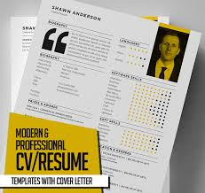 Modern Cv Resume Template For Ai New Modern Cv Resume Templates With Cover Letter Design